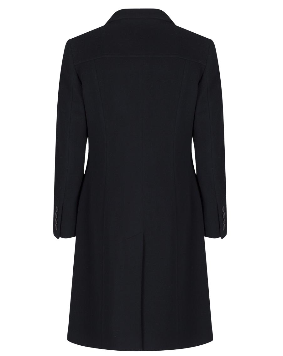 Women S Tailored Black Wool Coat, Ladies Black Wool Trench Coat Uk