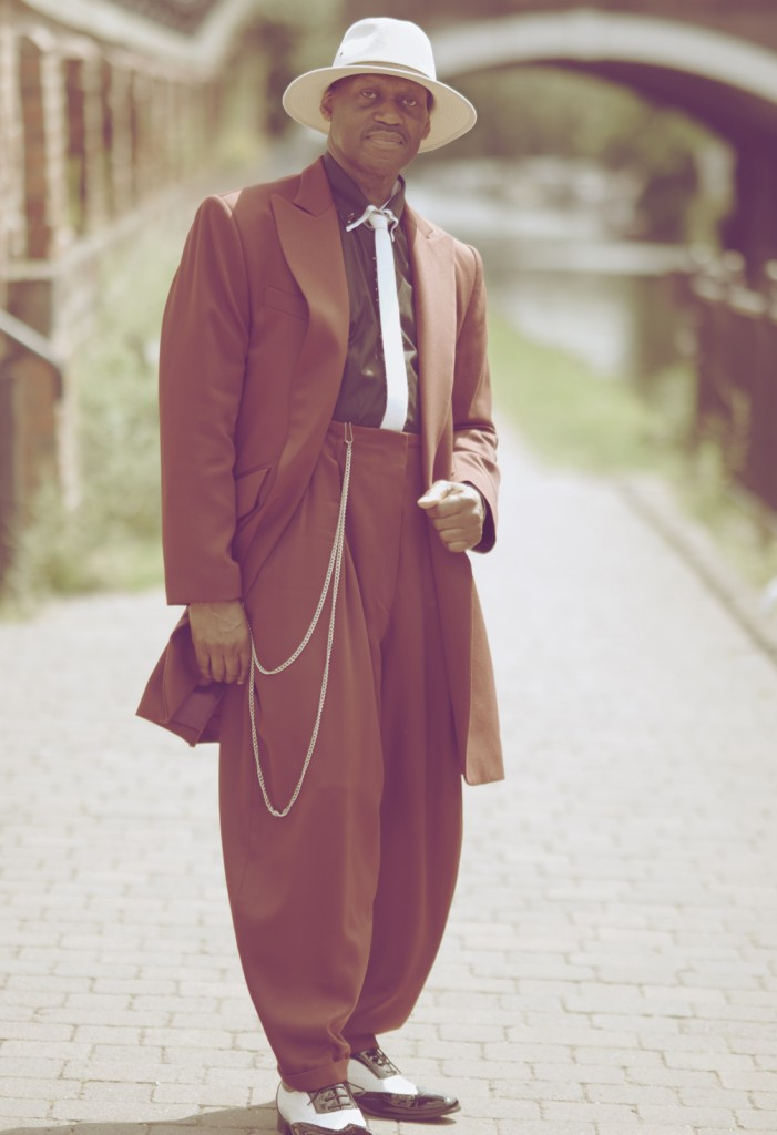 Wine coloured 1940's styled Zoot Suit